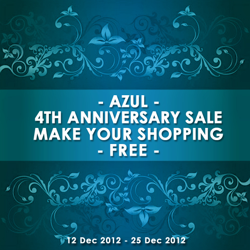 2012Dec AZUL4thAnniversary POSTER